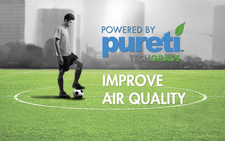 PURETi TECHGRASS - Domo Sports Grass - improve air quality -product