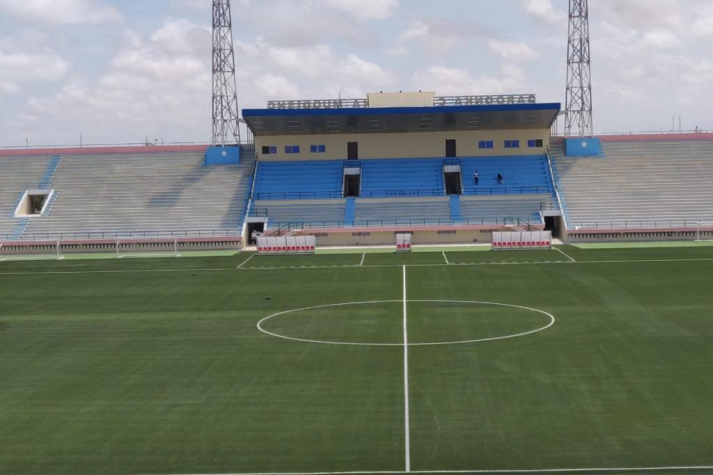 Domo Sports Grass builds new soccer pitch for the National Stadium of Somalia in Mogadishu
