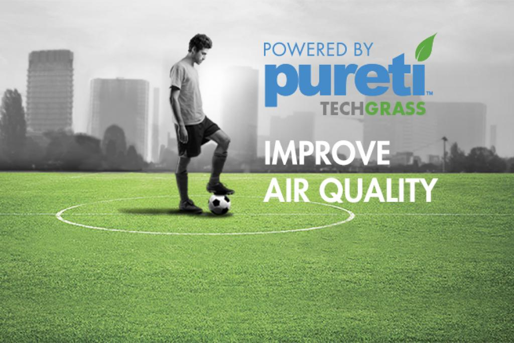 PURETi TECHGRASS - Domo Sports Grass - Artificial grass that improves air quality